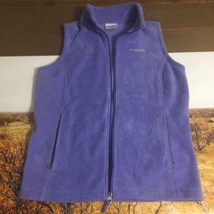 Columbia Fleece Zip-Up Vest, Girls L
